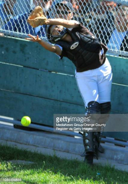 SAN PEDRO LA City Section CIF softball semifinal San Pedro lost to Kennedy 31 5th inning Kennedy catcher Adrianna Correa narrowly misses catching a...