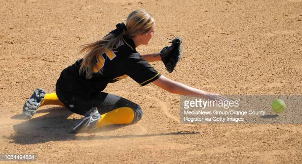 SAN PEDRO LA City Section CIF softball semifinal San Pedro lost to Kennedy 31 6th inning San Pedro shortstop Kourtney Costa scrambles for a ball hit...