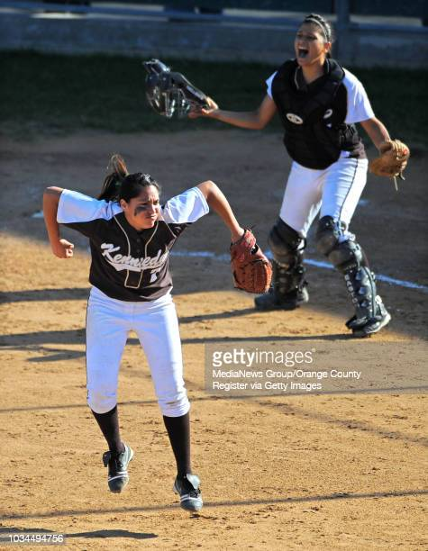 SAN PEDRO LA City Section CIF softball semifinal San Pedro lost to Kennedy 31 8th inning Kennedy pitcher Carbajal Christian and catcher Adrianna...