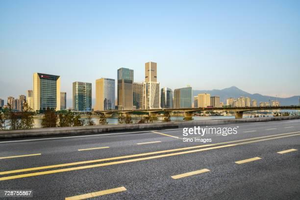 City seen from highway, Fuzhou, Fujian, China