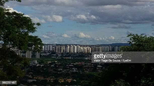 city seen from hill - goiania stock pictures, royalty-free photos & images