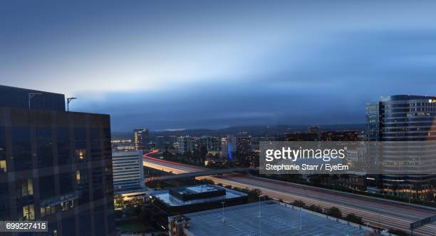 city skyline against blue sky - irvine california stock pictures, royalty-free photos & images
