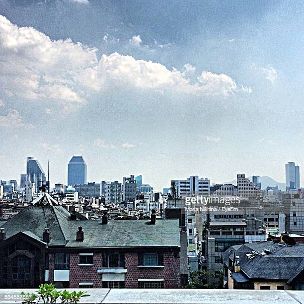 city skyline against sky - nikitina stock pictures, royalty-free photos & images