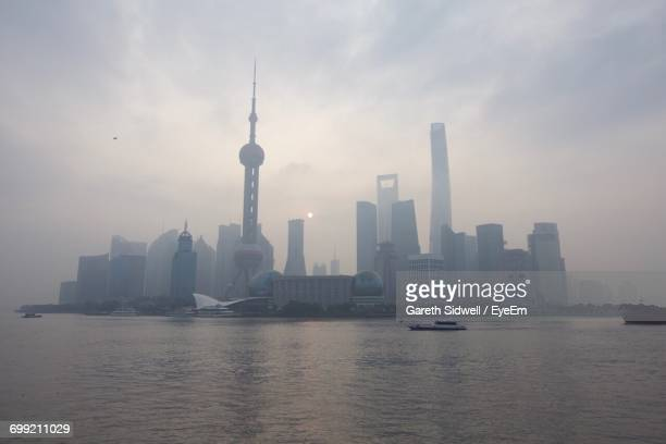 city skyline against sky - nanjing stock pictures, royalty-free photos & images
