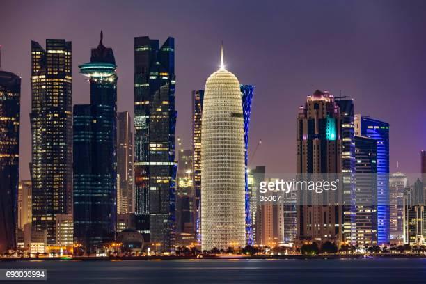 city skyline and buildings - doha, qatar