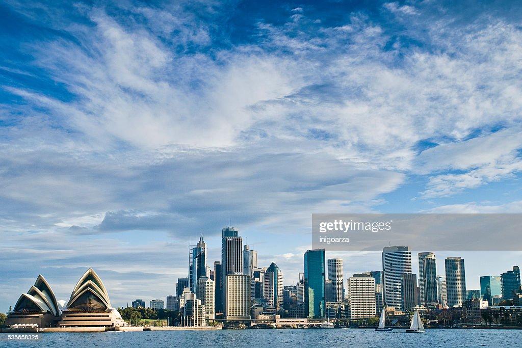 City skyline and Opera house, Sydney, Australia : Stock Photo