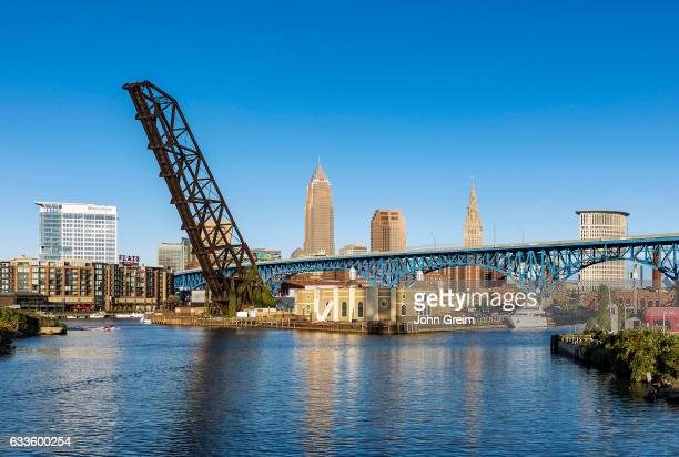 City skyline and the Cuyahoga River