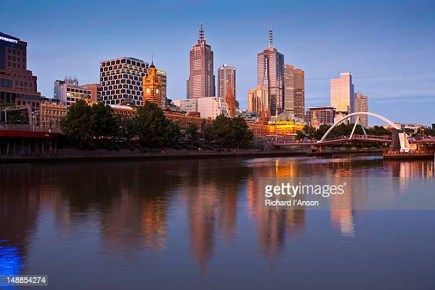 City skyline and Yarra River at Southbank.