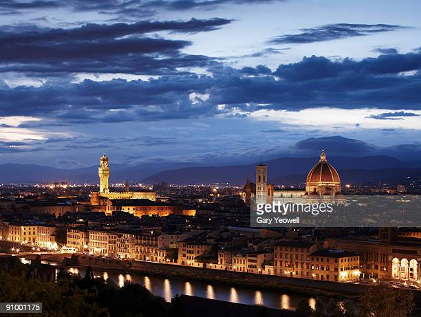 city skyline at dusk - yeowell stock pictures, royalty-free photos & images