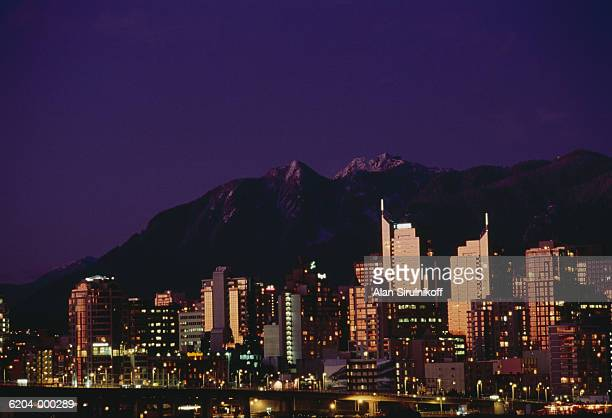 city skyline at night - sirulnikoff stock pictures, royalty-free photos & images