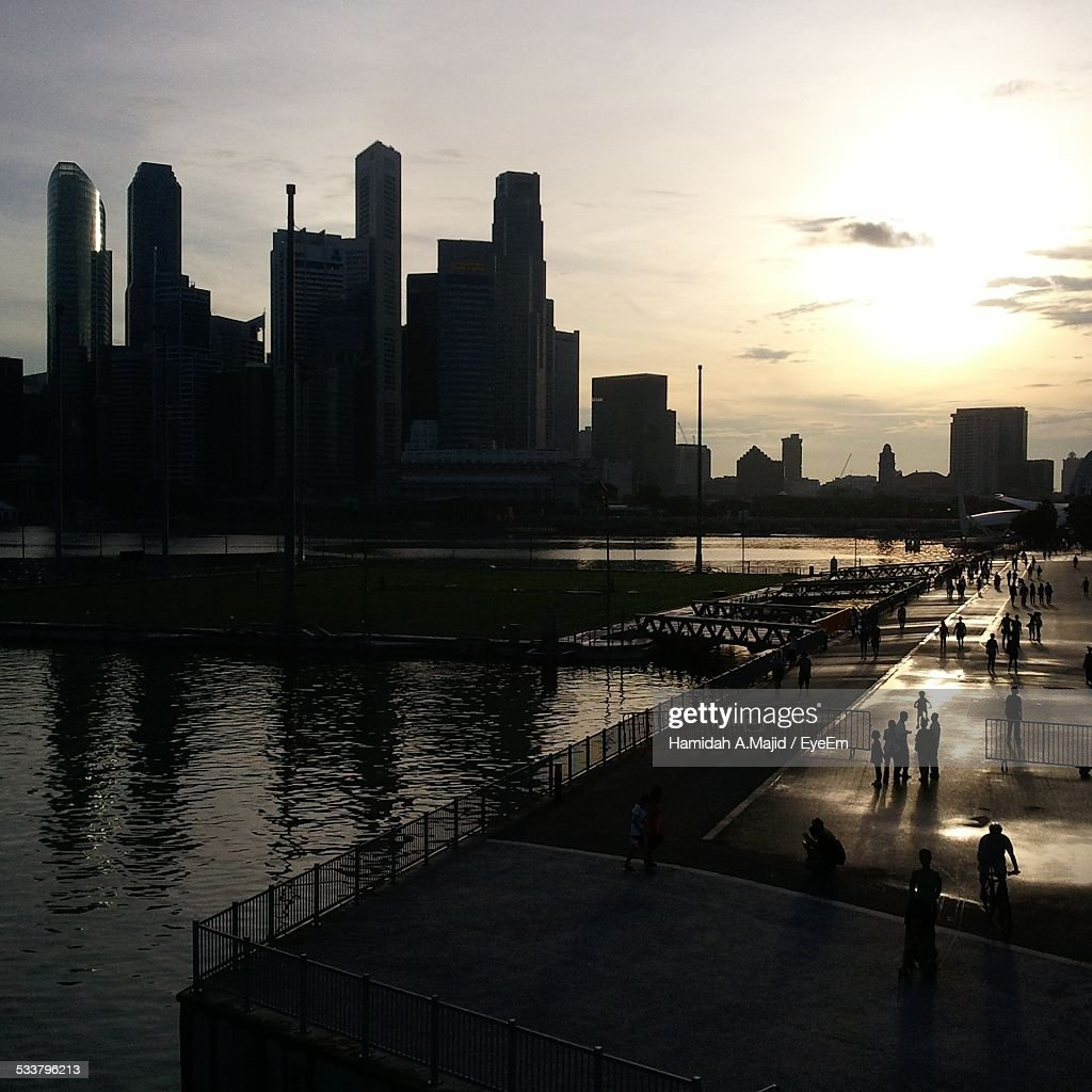 City Skyline At Sunset : Foto stock