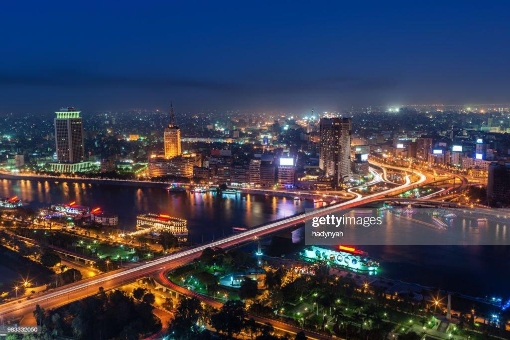 City skyline - Cairo at dusk : Stock Photo