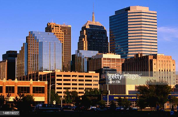 city skyline from southwest. - oklahoma city stock pictures, royalty-free photos & images