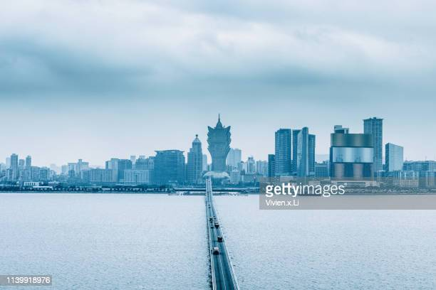 city skyline in macao - macao stock pictures, royalty-free photos & images