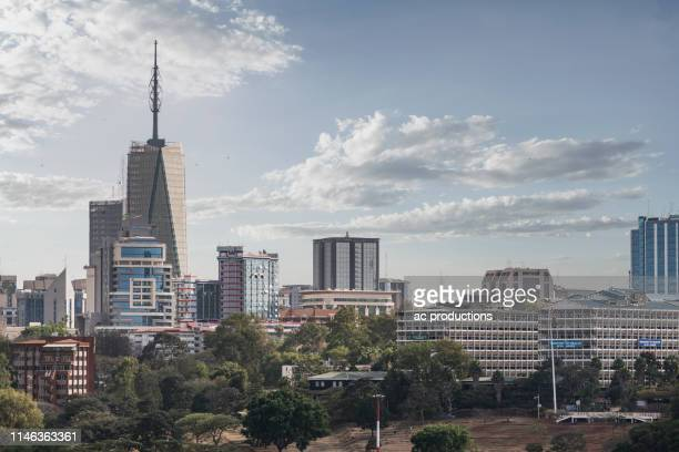 city skyline in nairobi, kenya - nairobi stock pictures, royalty-free photos & images