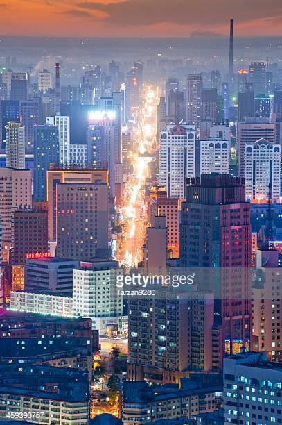 City skyline in night