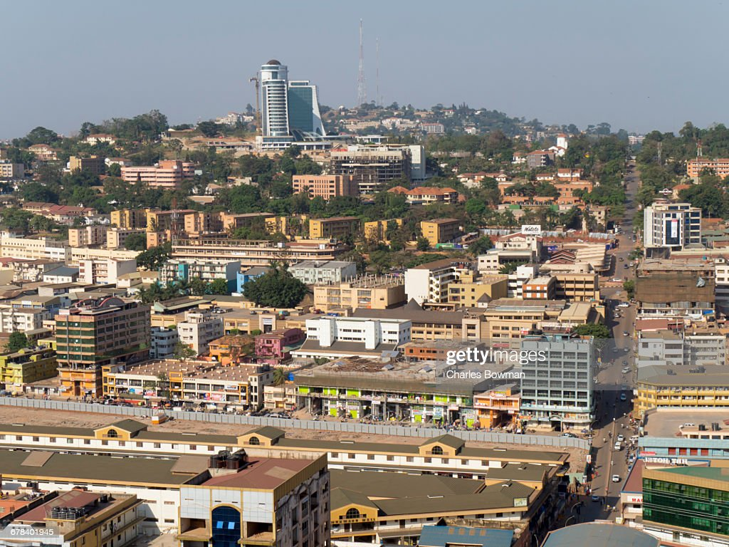 City skyline, Kampala, Uganda, Africa : Stock Photo