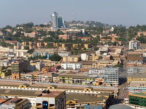 city skyline, kampala, uganda, africa - kampala stock pictures, royalty-free photos & images