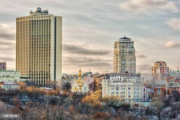 city skyline, kiev, ukraine - kiev stock pictures, royalty-free photos & images
