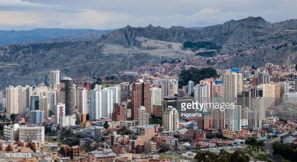 City skyline, La Paz, Murillo Province, Bolivia