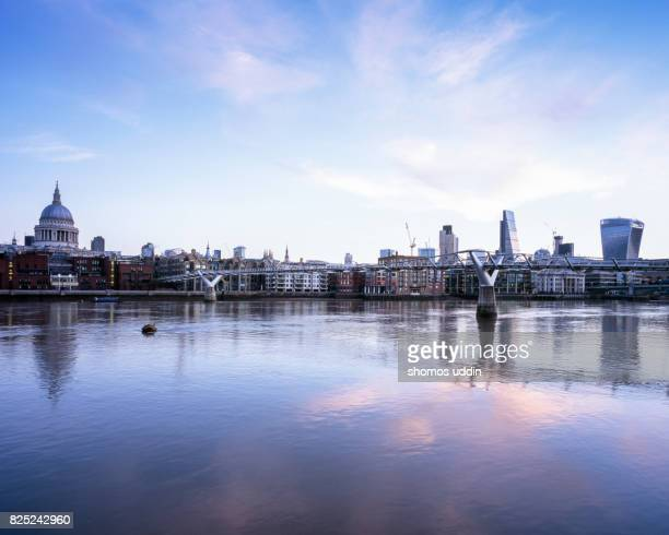 City skyline of East Central London, at dawn