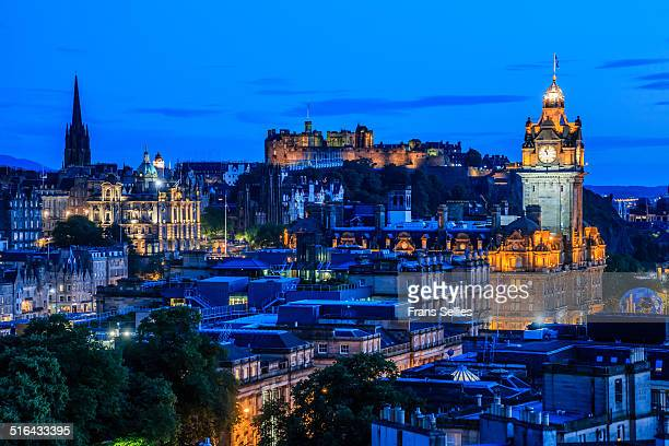 City skyline of Edinburgh, Scotland