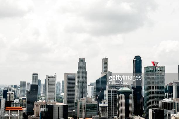 City skyline of Singapore.