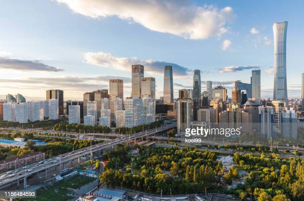 horizon de la ville panoramic - pékin photos et images de collection