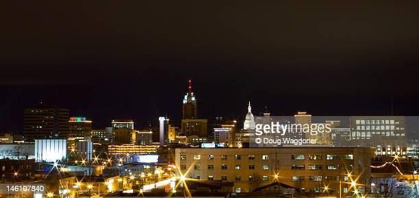 city skyline - lansing stock pictures, royalty-free photos & images