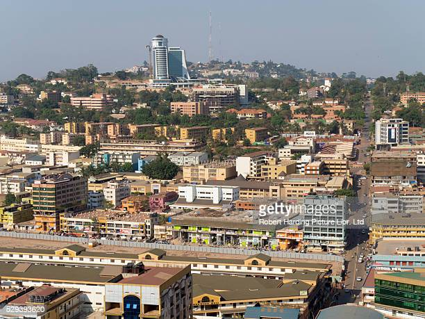 city skyline - kampala stock-fotos und bilder