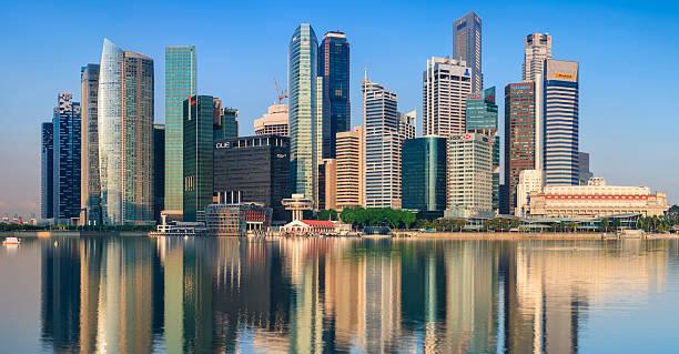 City Skyline - Singapore After Sunrise 51MPix XXXXL Size Wall Art
