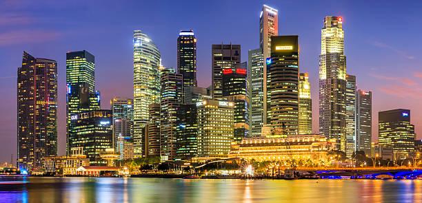 City Skyline - Singapore At Dusk 35MPix XXXXL Wall Art