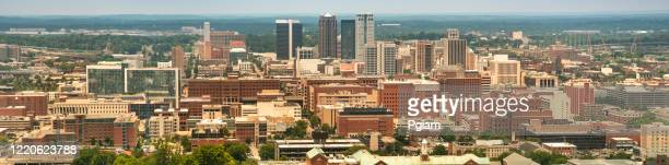 city skyline view of the birmingham alabama usa - birmingham alabama stock pictures, royalty-free photos & images