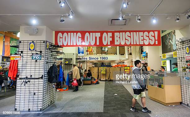 A City Sports store in New York advertises its going out of business sale on Tuesday December 15 2015 The Boston based retailer opened in 1983 and...