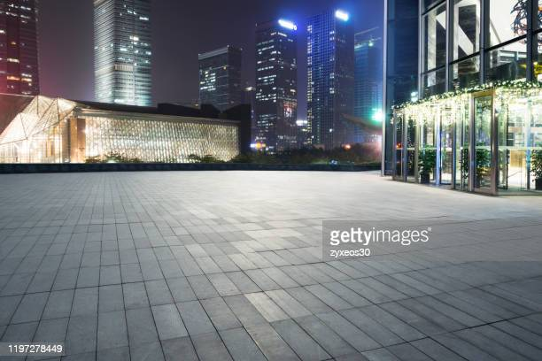 city square in shenzhen guangdong province at night,china, - courtyard stock pictures, royalty-free photos & images