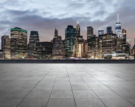 City Square of Manhattan at Dusk - gettyimageskorea