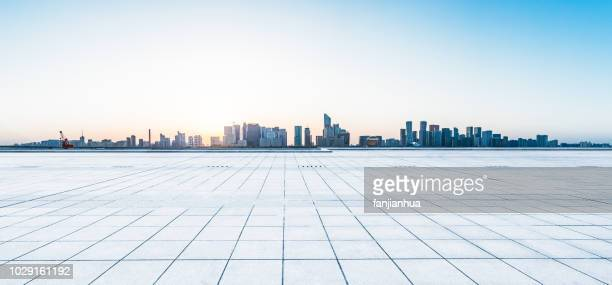 city square,shenzhen - horizon over land stock pictures, royalty-free photos & images