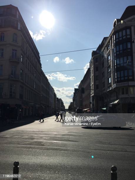 city street and buildings against sky - minamino stock pictures, royalty-free photos & images