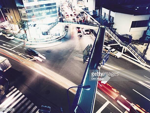 City street at night, Tokyo (long exposure)