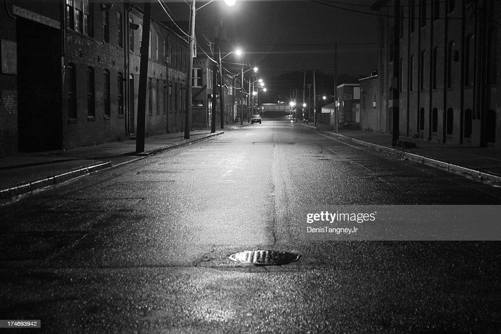 City Street Black and White : Stock Photo