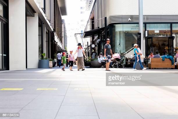 City street, Exchange Place, Barangaroo, Sydney Australia