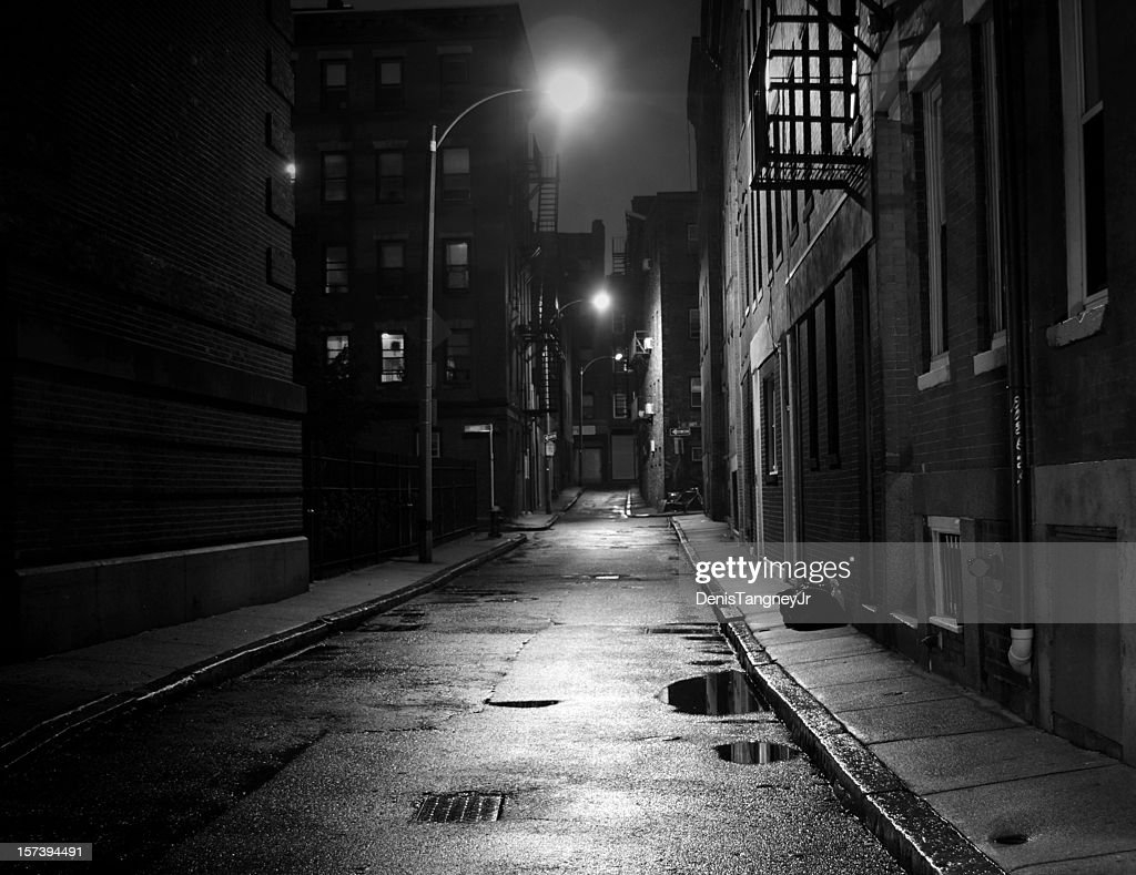 rue ville en noir et blanc photo getty images. Black Bedroom Furniture Sets. Home Design Ideas
