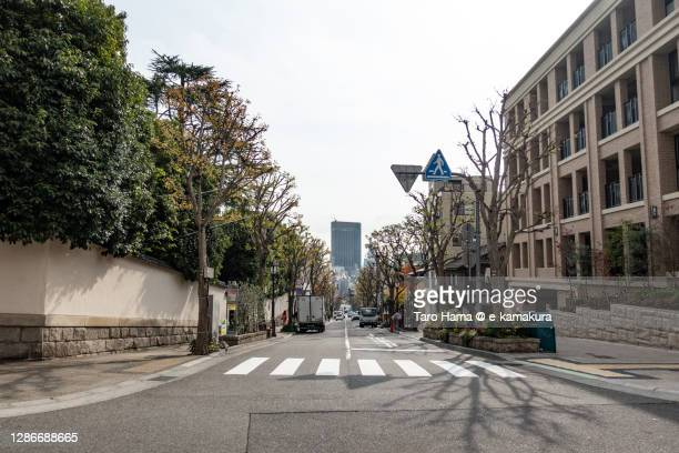 city street in kobe city of japan - kobe japan stock pictures, royalty-free photos & images