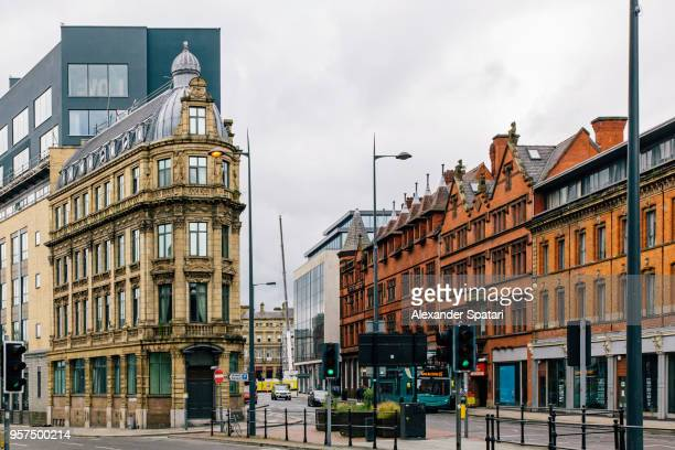City street in Liverpool, England, UK