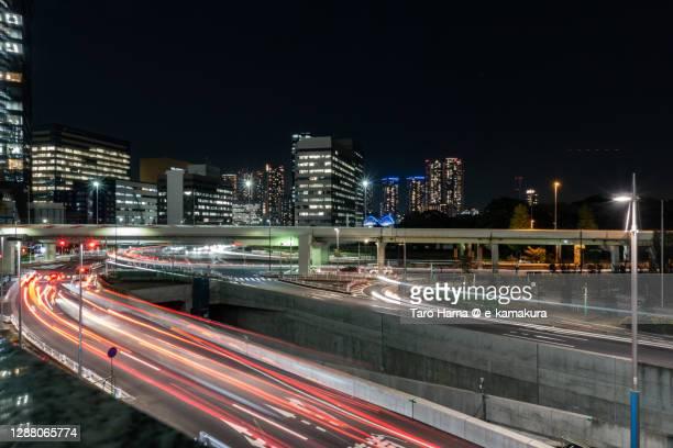 city street in tokyo of japan - taro hama ストックフォトと画像