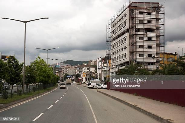 City Street of Arakli in Trabzon Province in the Black Sea region of Turkey