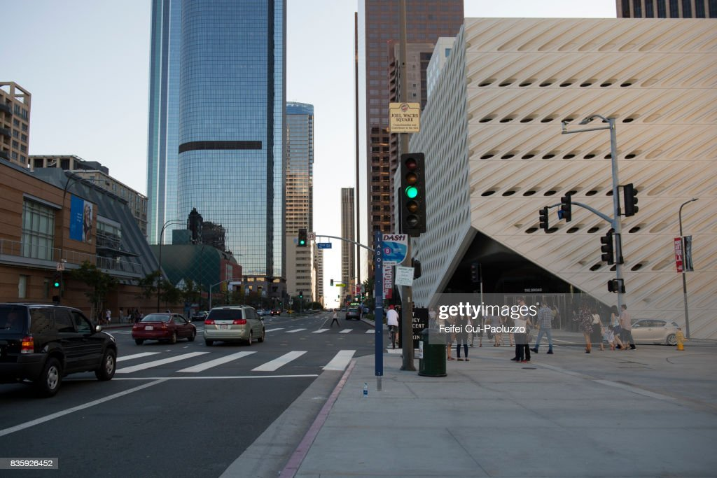 city street of los angeles city california usa ストックフォト