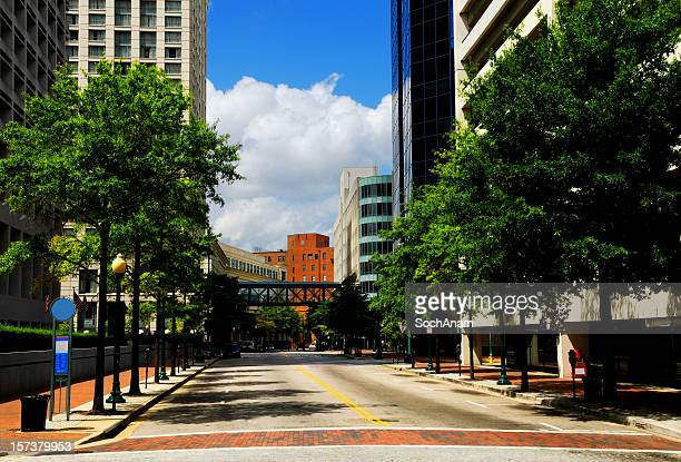 city street - norfolk virginia stock photos and pictures