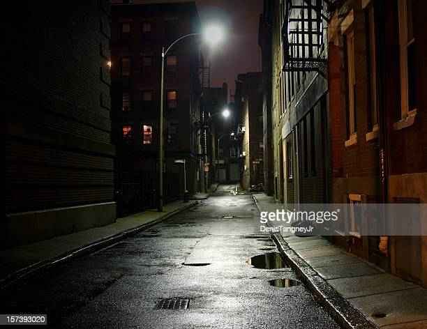 city street - dark stock pictures, royalty-free photos & images