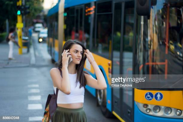 city street - bulgarian girl stock photos and pictures